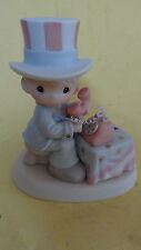 "Precious Moments Figurine ""Let Freedom Ring"" 681059 w/o Box 3-1/2"" Tall"