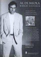 Al Di Meola World Sinfonia Album 1993 Magazine Advert #279