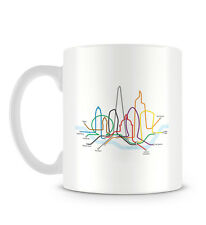 London Illustration with Eye Shard Thames and Underground Design Mug