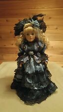 """Collector's Choice Series by DanDee 17"""" Blonde Hair Blue Dress Porcelain Doll"""
