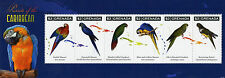 Grenada 2011 MNH Parrots of Caribbean 6v M/S Birds Macaw Parakeet Parrot Stamps