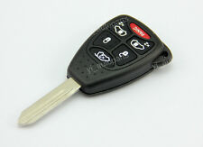 Uncut Blade Blank Key Remote Shell Case Cover For Chrysler Dodge Jeep 6 Buttons