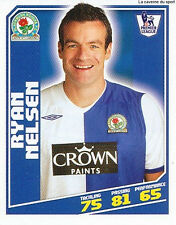 N°052 RYAN NELSEN BLACKBURN ROVERS STICKER TOPPS PREMIER LEAGUE 2009