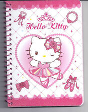 Sanrio Hello Kitty Spiral Notebook Ballet Glitter