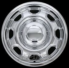 "4 New CHROME 2010-16 Ford F-150 17"" Wheel Skins Hub Caps 8 Slot Steel Rim Covers"