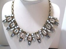 CONTEMPORARY NECKLACE FASHION RUNWAY STATEMENT FAUX CRYSTAL FANCY