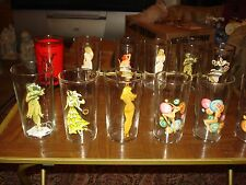 12 Vintage Risque Nudie Nude Girl Woman Drinking Glasses