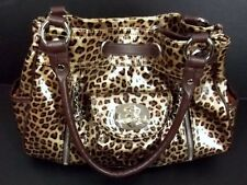 Kathy Van Zeeland Patent Leather Handbag Purse Animal Print