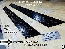 "Jeep TJ Wrangler 3 1/2"" Tall Powder Coated Diamond Plate Rocker Panels set"