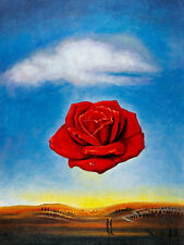 The Meditative Rose A2+ by Salvador Dali High Quality Canvas Print