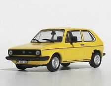 VW GOLF GLS 1:43 Car model die cast models cars diecast yellow metal Volkswagen
