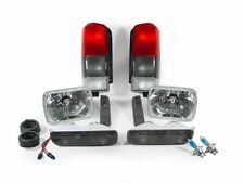 97-01 JEEP CHEROKEE XJ CHROME CLEAR HEADLIGHTS + SMOKE TAIL LIGHTS + CORNER LAMP