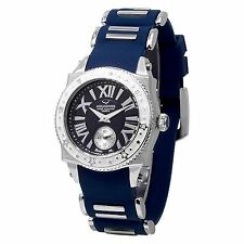 NEW Aquaswiss 62LD037 Women's Swissport L Diamond Cute Stars Watch Blue Silicone