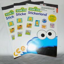 New Sesame Street Stickers 3 Packs of 295 stickers 12 sheets Party Favors