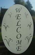 WELCOME SIGN  Vinyl Window Decoration / Static Cling / Window Sticker 10x15cm