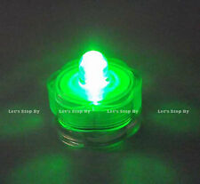 12 Green LED SUBMERSIBLE Wedding Waterproof  Floralytes Decoration Tea Light