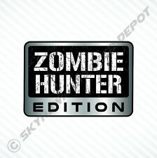 Zombie Hunter Edition Vinyl Car Sticker Badge Vinyl Decal Walking Dead Fits Jeep