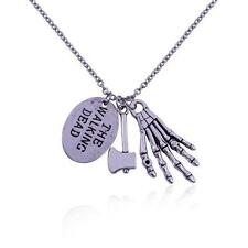 The Walking Dead Costume Jewelry Unique Paw Axe Charms Pendant Necklace Chain