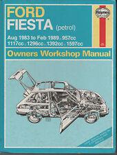 FORD FIESTA - Haynes Workshop Manual - 1983 to 1989 models - USED