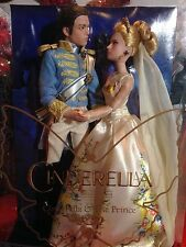 Disney Store Cinderella and Prince Wedding Doll Set from Live Action Film - NIB
