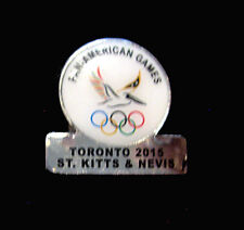 TORONTO 2015 Pan Am Olympic Games LIMITED St Kitts & Nevis NOC team pin