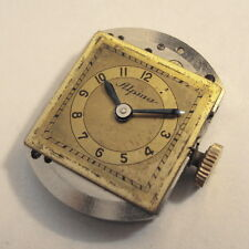 Rare vintage ALPINA 495 wristwatch working MOVEMENT & DIAL & HANDS 1940s