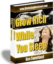 Grow Rich While You Sleep Ebook On CD $5.95 Plus Resale Rights Free Shipping