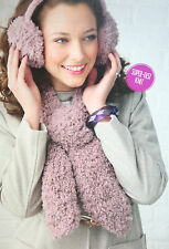 Scarf and Ear Muffs Knitting Pattern