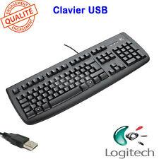 Clavier Logitech Deluxe 250 Keyboard USB filaire noir AZERTY