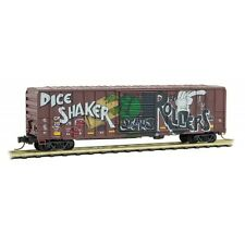 Canadian Pacific 50' Ribside Boxcar 'Dice Shaker' Graffiti MTL #02551056 N Scale