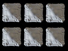 ART DECO CORNER MOULDINGS FURNITURE RESIN WHITE SQUARE FURNITURE MOUNTS