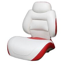 Tracker Boat Folding Fishing Seat M2519AB | Off White / Red