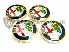 Set Of FOUR New Alfa Romeo Alloy Wheel Centre Caps 159 Brera Spider & Giulietta
