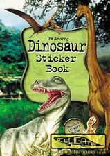 DINOSAUR STICKER BOOK FACT FILLED INFORMATION LEARN QUIZ PICTURES PARTY BAG ag