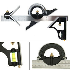12 inch Combination Measuring Angle Tool Rule Tri- Square Ruler Steel Machinist