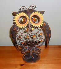 OWL CANDLE HOLDER FALL HALLOWEEN