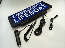 LED Univisor EMERGENCY LIFEBOAT Sign visor illuminated flashing option