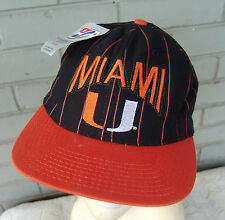 Miami University Hurricanes NCAA The Game VTG Snapback Baseball Cap Hat NWT