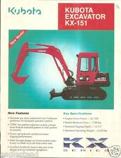 Equipment Brochure - Kubota - KX-151 - Mini-Excavator - c1990's (E2228)