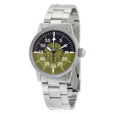 Fortis Flieger Cockpit Automatic Black and Green Dial Stainless Steel Mens