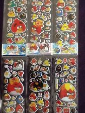 ANGRY BIRDS Stickers 12 Packs 6 Different 2 Of Each - PARTY BAG GIFT