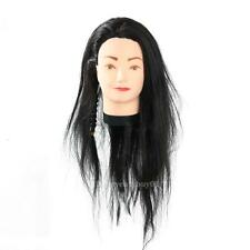 Long Hair Training Head Model Hairdressing Clamp Stand Dummy Practice Mannequin