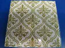 Gold Damask Floral Garden Flower Open House Tea Party Paper Luncheon Napkins