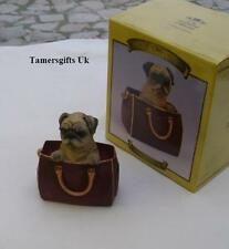 Leonardo Fawn Coloured Pug Dog In Travel Bag Xmas Gift