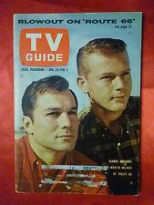 January 26 St. Lawrence ed TV GUIDE 1963 ROUTE 66 Maharis Martin Milner Dalton