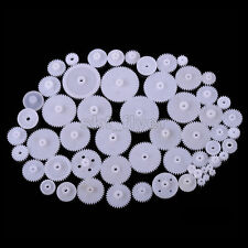 58pcs Plastic Gears Worm Tooth Crown Robotic Part Motor Car Toy Truck Shaft