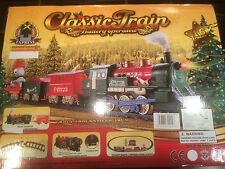 16 Piece Train Set With Headlight & Sound. Christmas Lights / Toy 340cm
