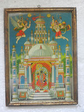 Rare Vintage Lord Ranchod Temple Print Litho Wooden Framed Photograph