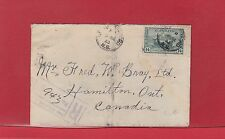 1943 War Issue 14c Tank NEW WATERFORD  Registered cover Canada