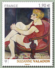 """FRANCE 2015 SUZANNE VALADON ART """"WOMAN IN WHITE STOCKINGS"""" MNH"""